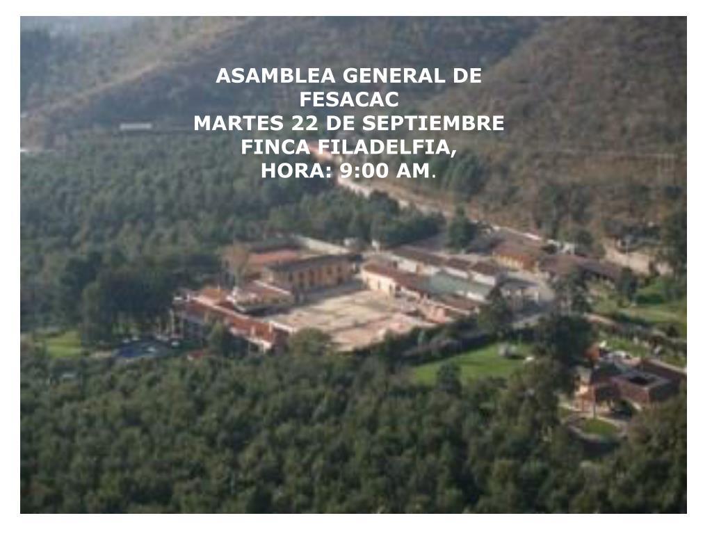 ASAMBLEA GENERAL DE FESACAC