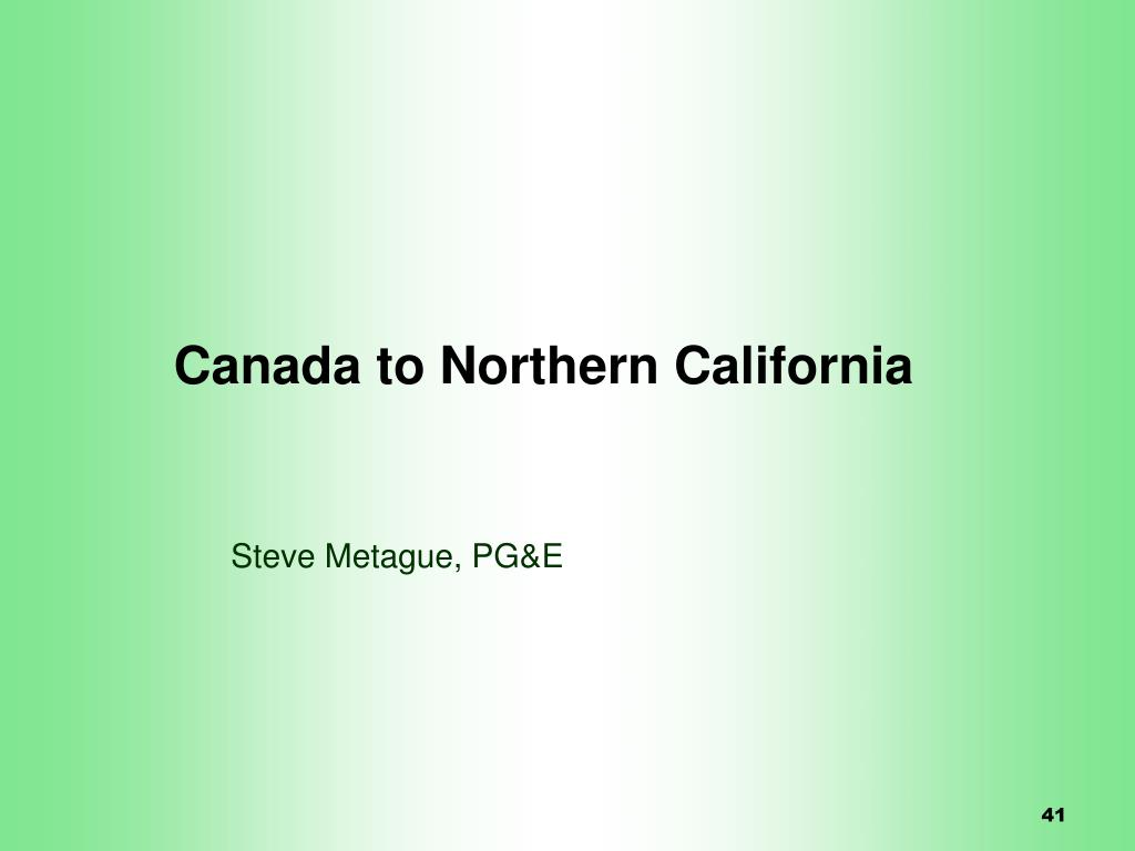 Canada to Northern California