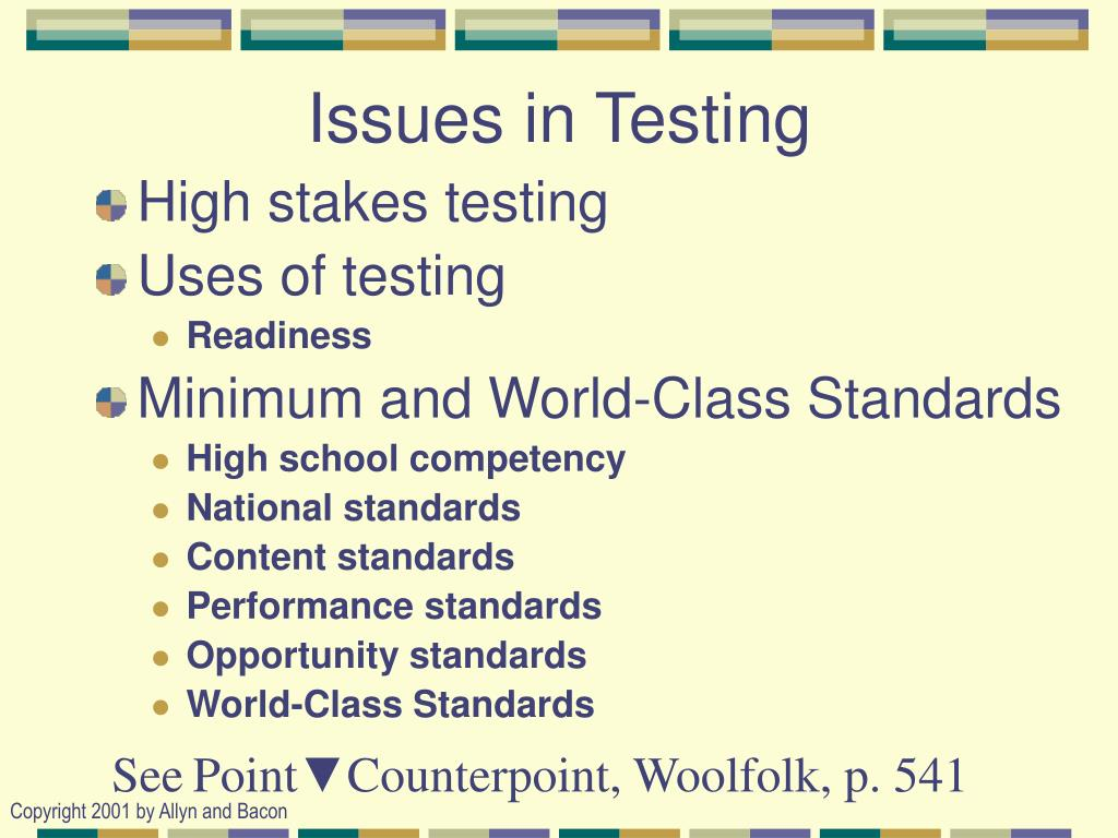 contemporary issues with standardized testing A torrent of complaints has been levelled against testing in recent months some  of the criticism is associated with the parcc exams, ohio's.