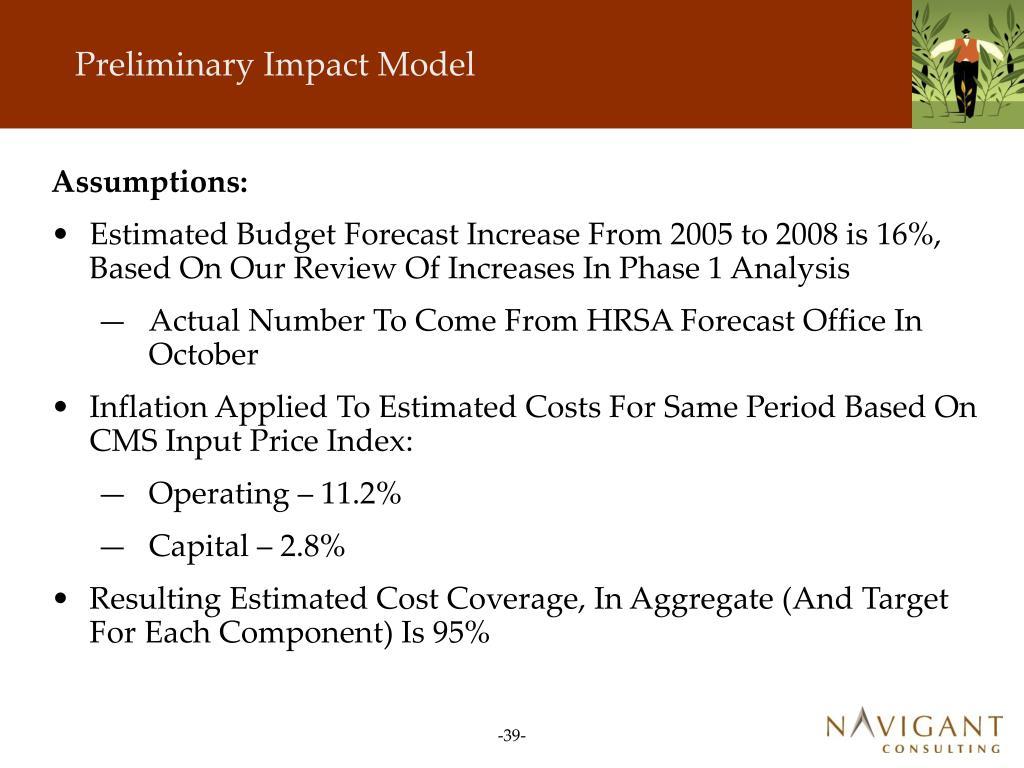 Preliminary Impact Model