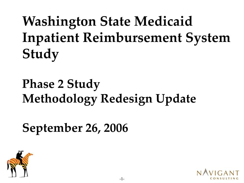 Washington State Medicaid Inpatient Reimbursement System Study