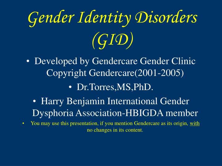 gender identity disorder gid essay