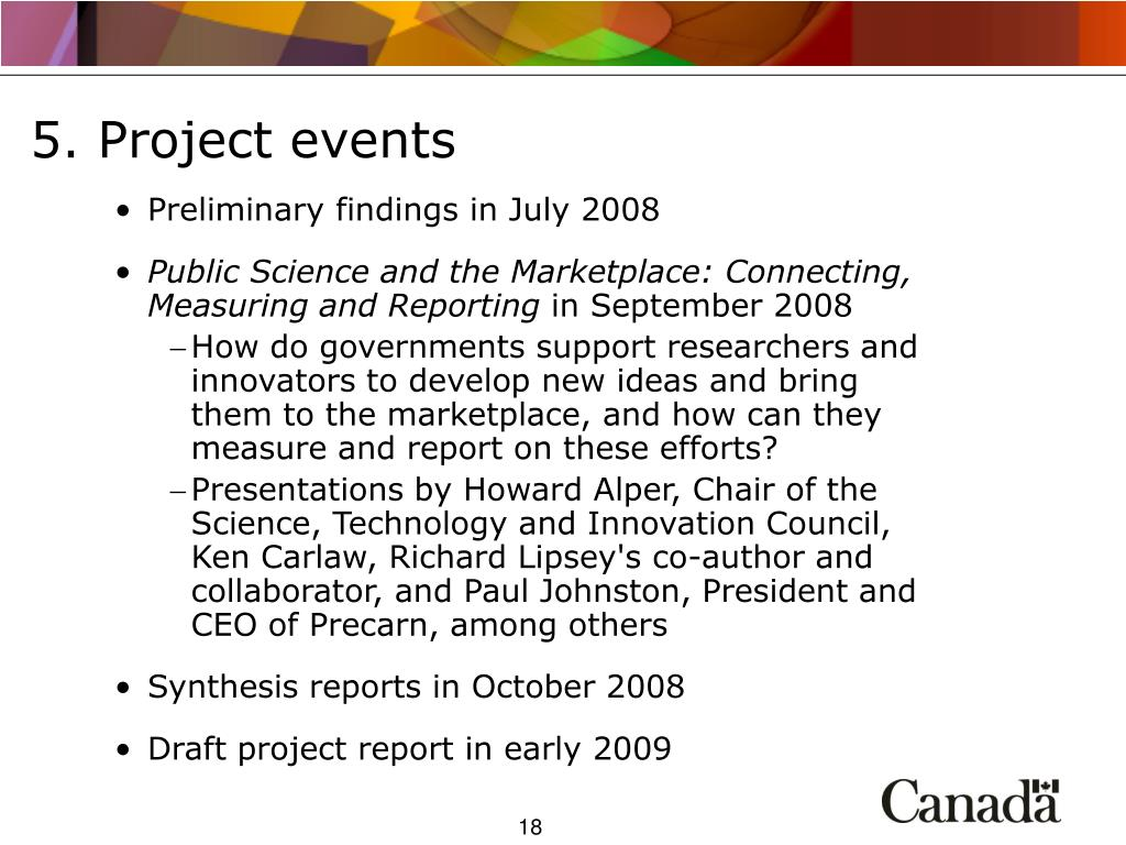 5. Project events