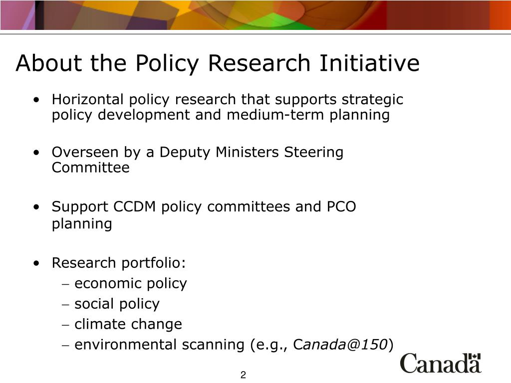 About the Policy Research Initiative