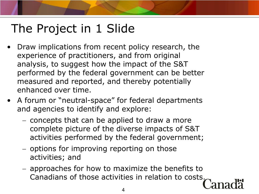 The Project in 1 Slide