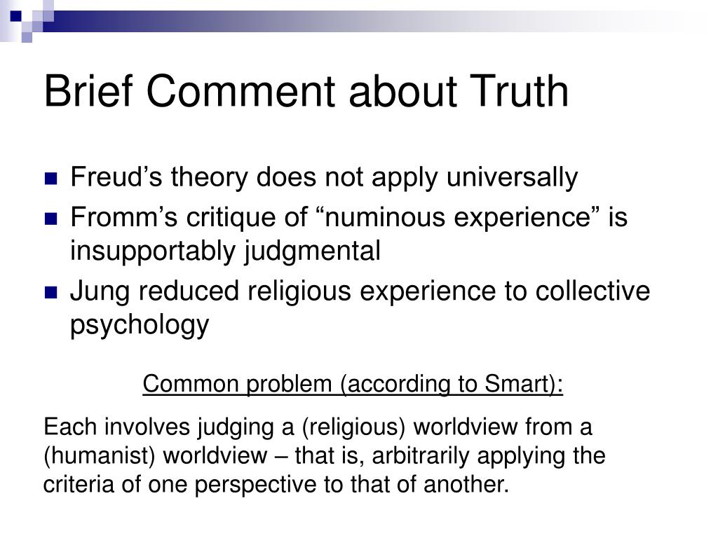 Brief Comment about Truth