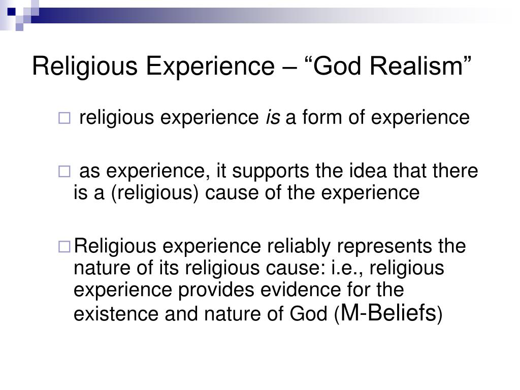 "Religious Experience – ""God Realism"""