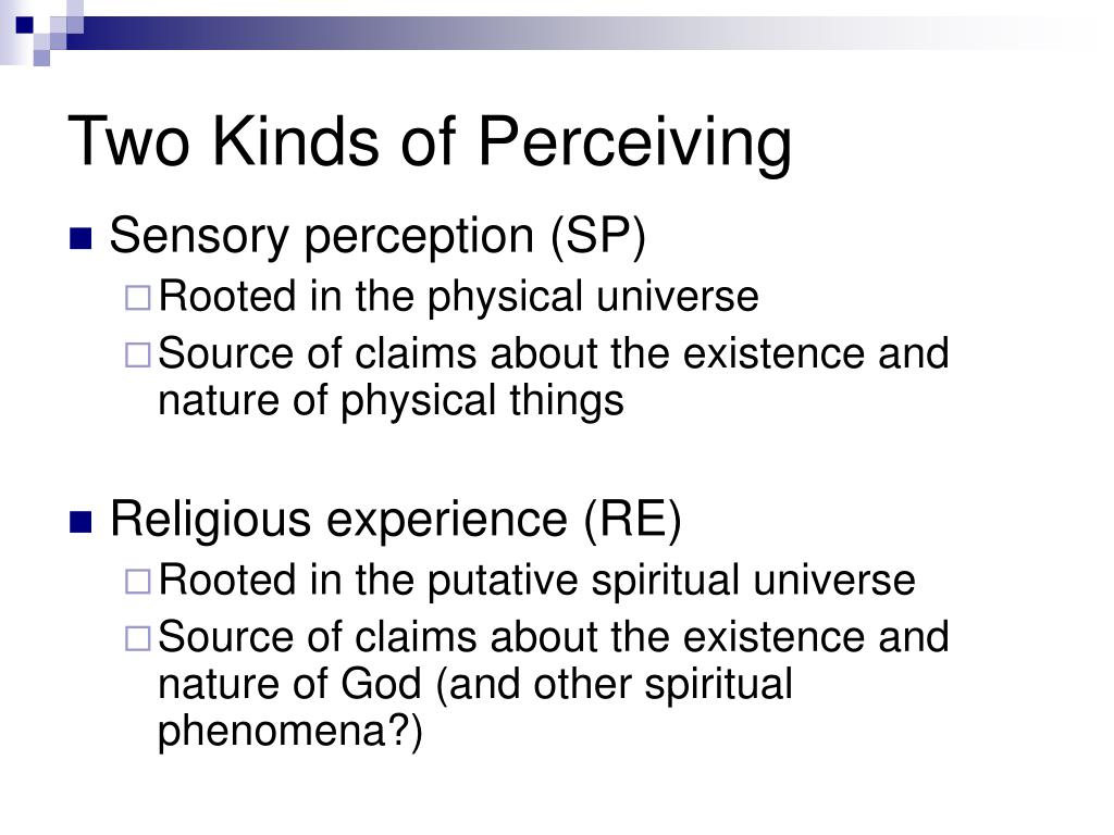 Two Kinds of Perceiving