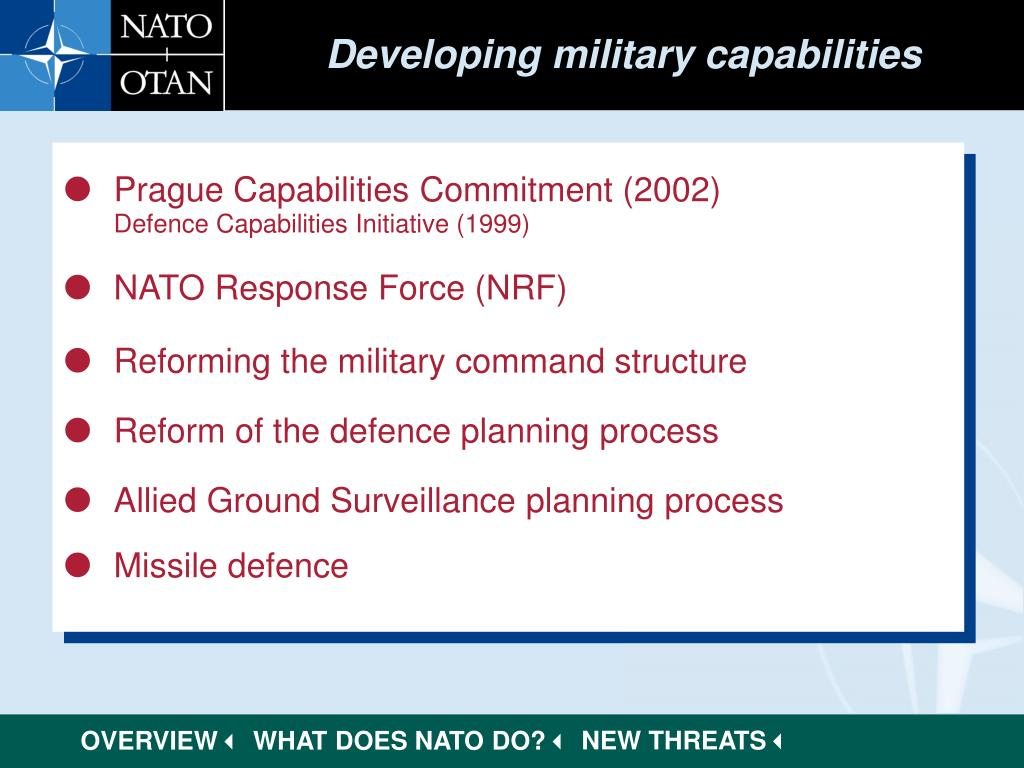 Developing military capabilities