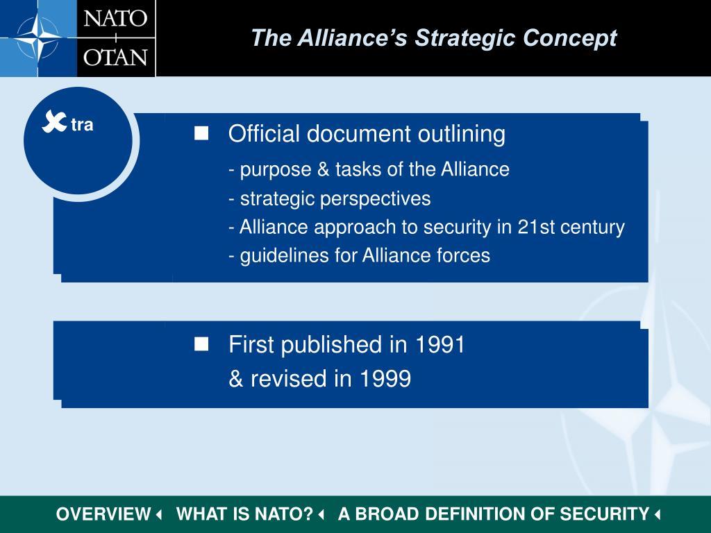 The Alliance's Strategic Concept