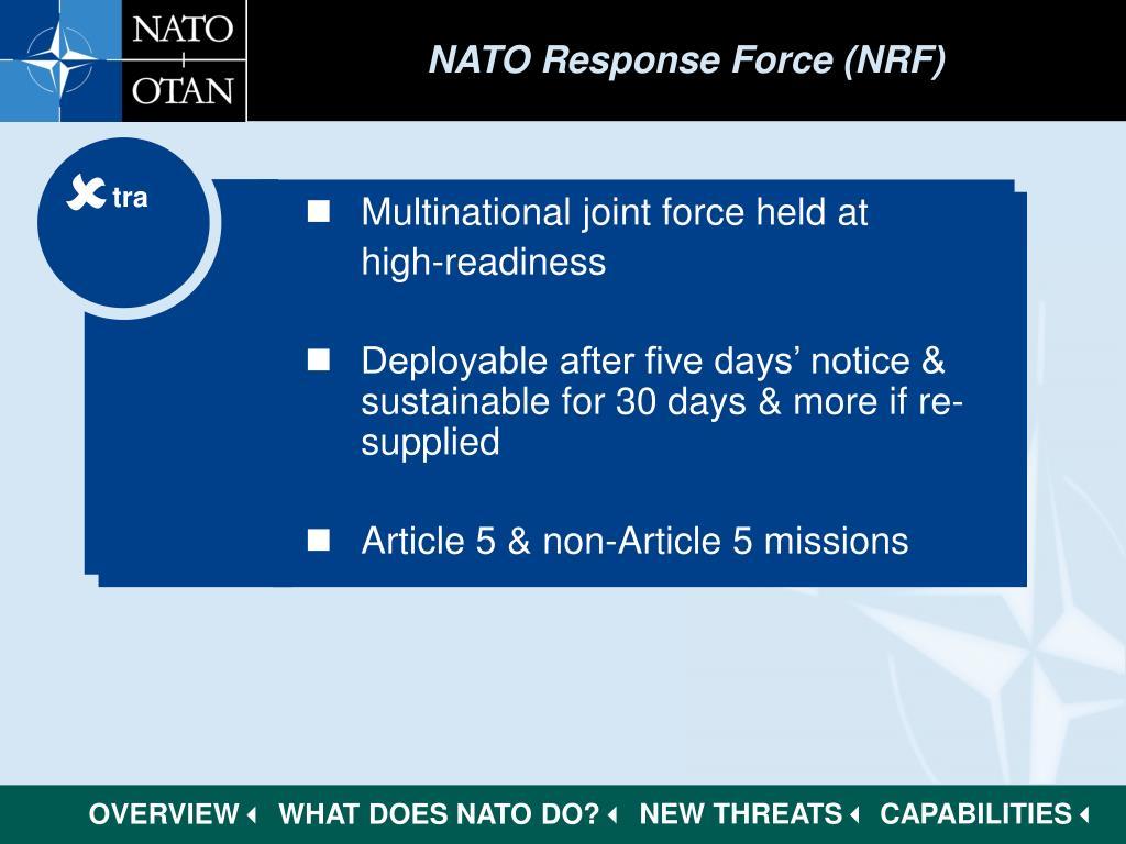 NATO Response Force (NRF)