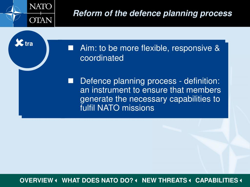 Reform of the defence planning process