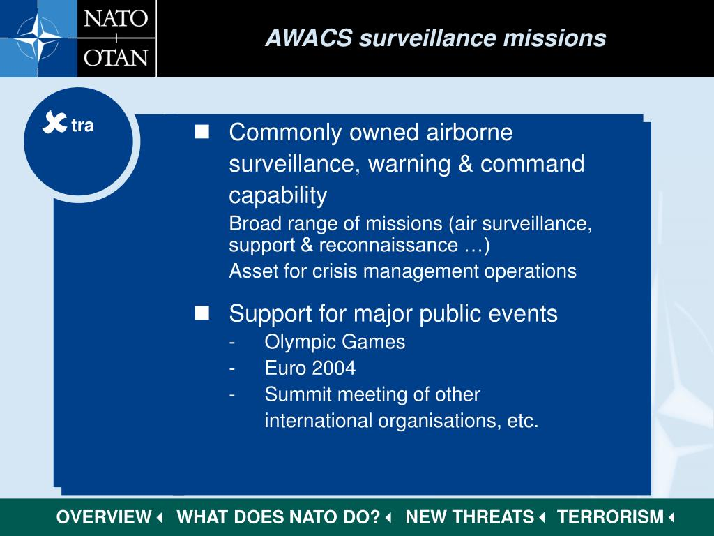 AWACS surveillance missions