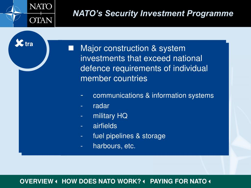 NATO's Security Investment Programme