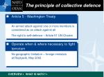 the principle of collective defence