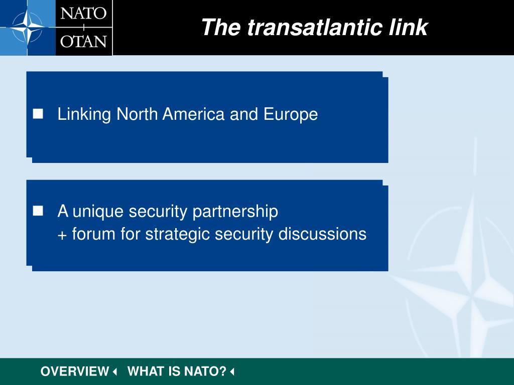 The transatlantic link