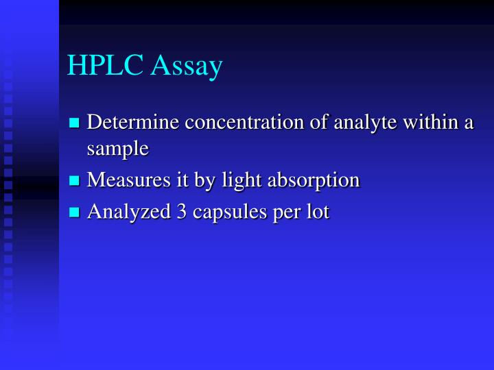 HPLC Assay