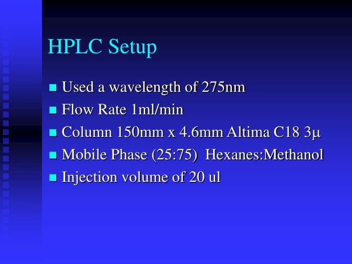 HPLC Setup