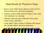 read alouds for phonemic tasks
