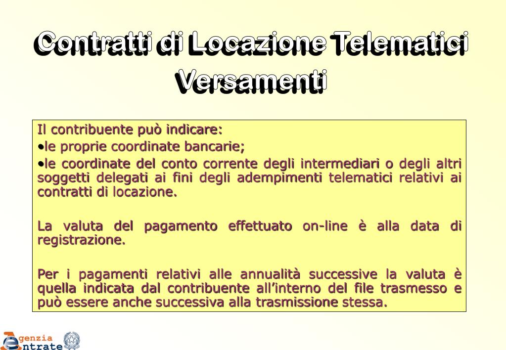 Contratti di Locazione Telematici