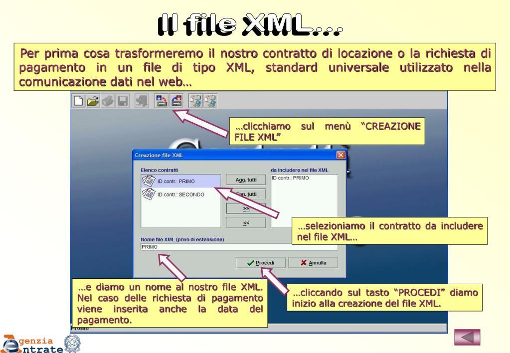 Il file XML...