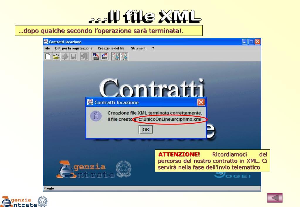 ...Il file XML