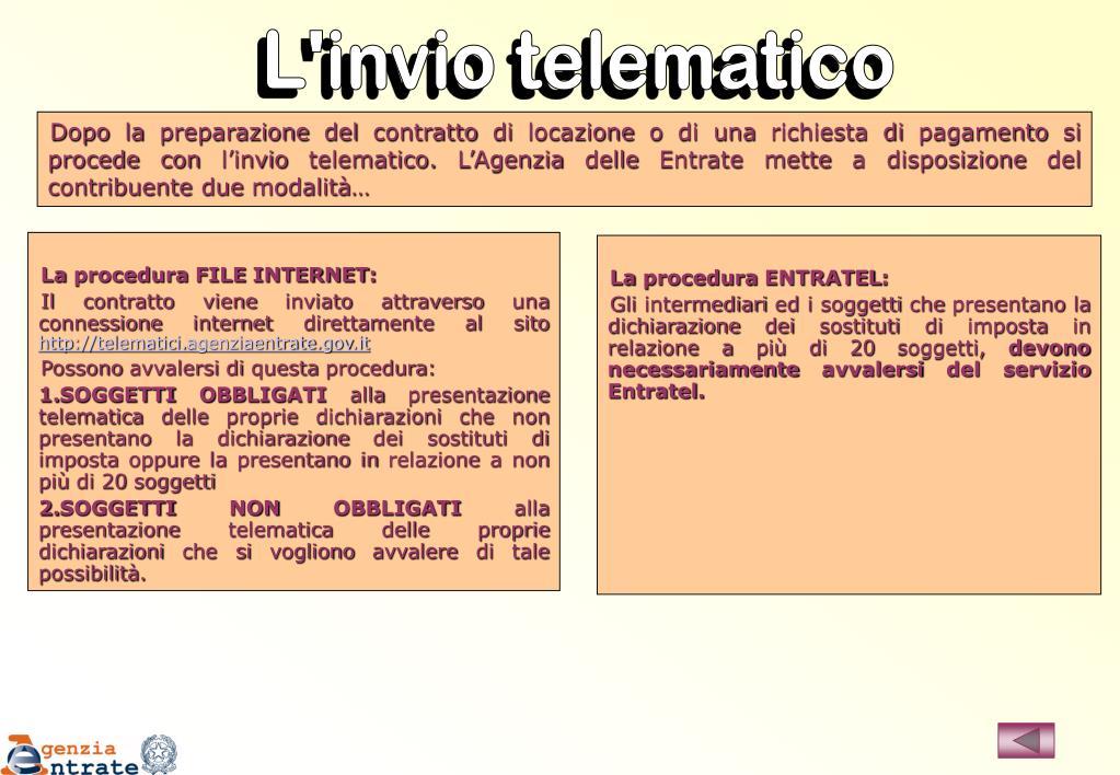 L'invio telematico