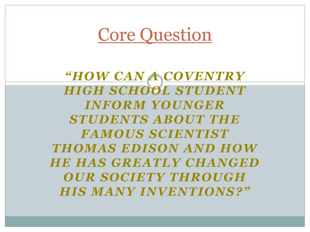 Core Question