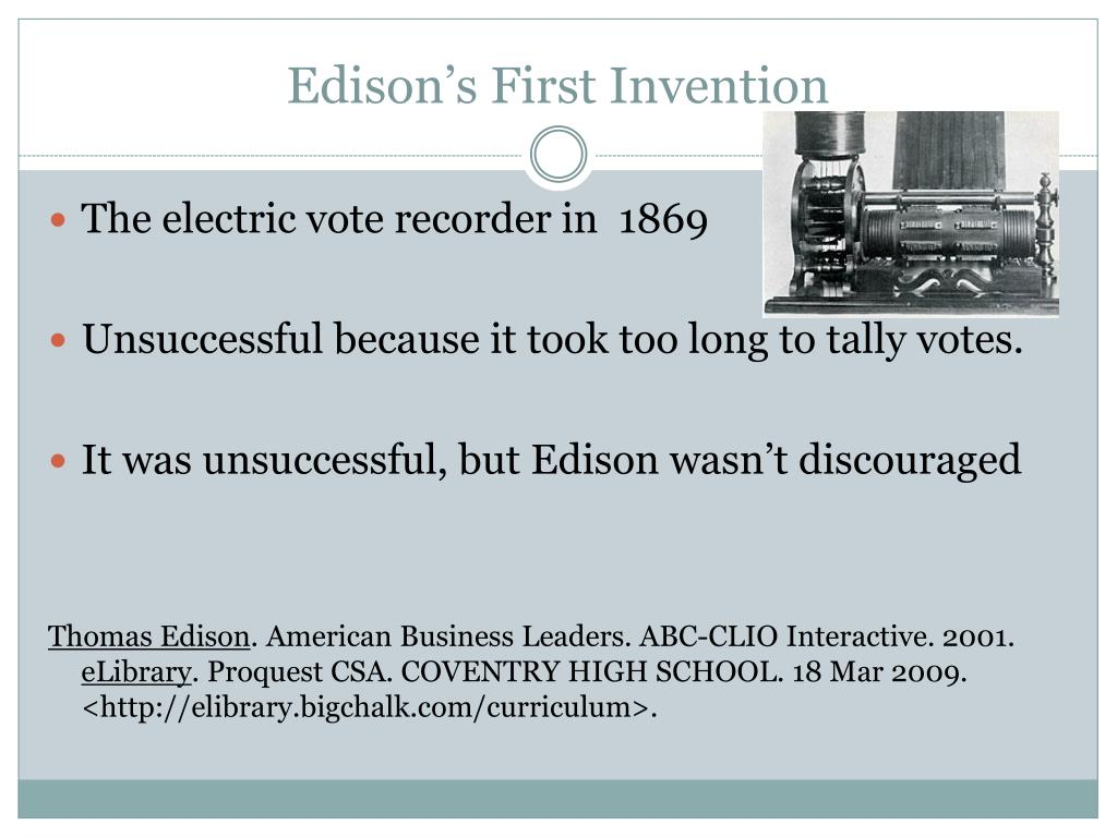 Edison's First Invention