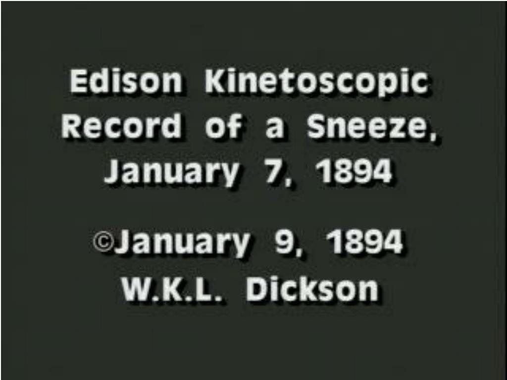 Fred Ott's  Sneeze