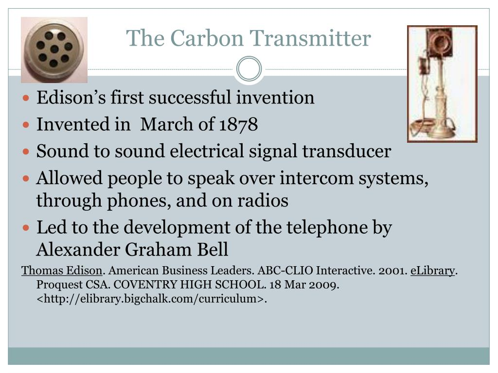 The Carbon Transmitter