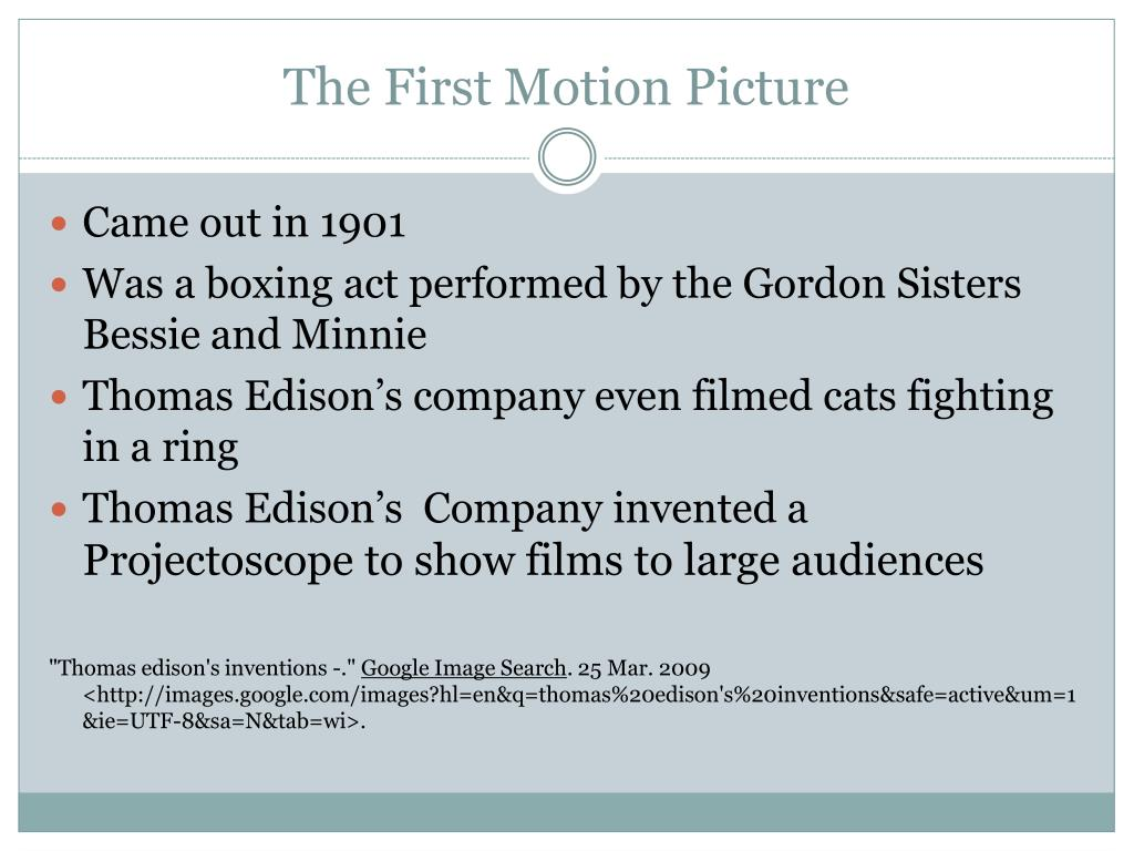 The First Motion Picture