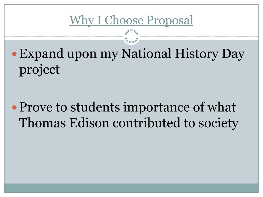 Why I Choose Proposal