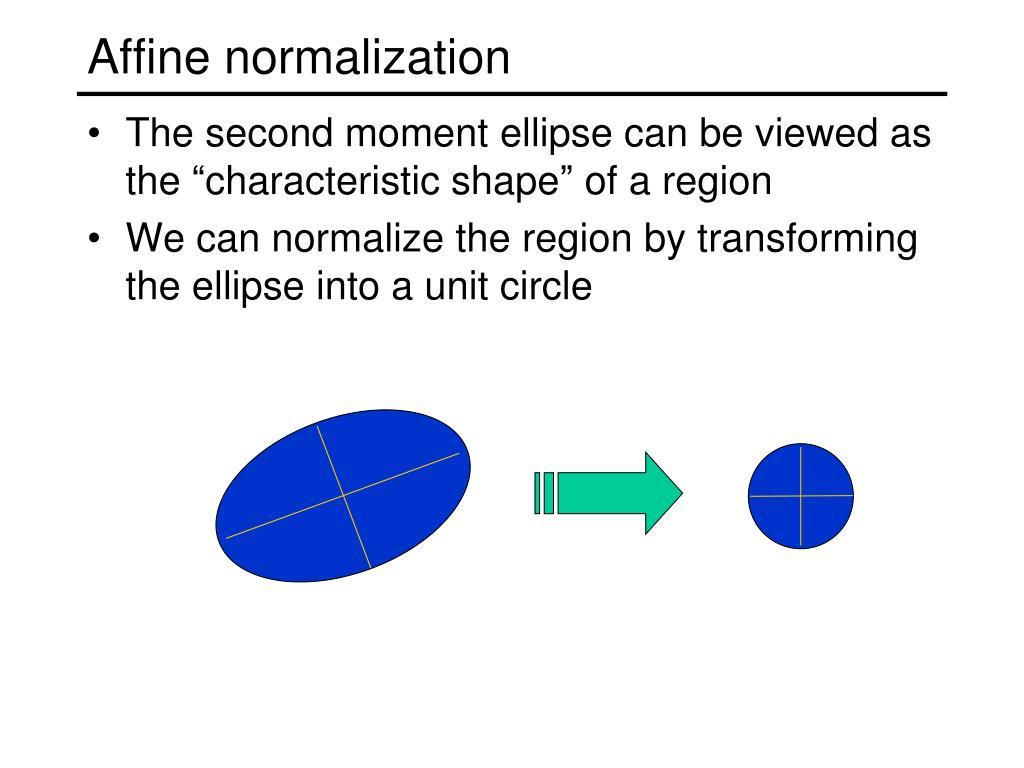 Affine normalization