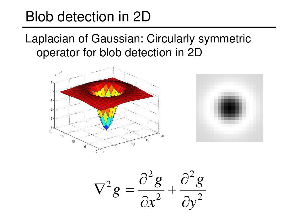 Blob detection in 2D