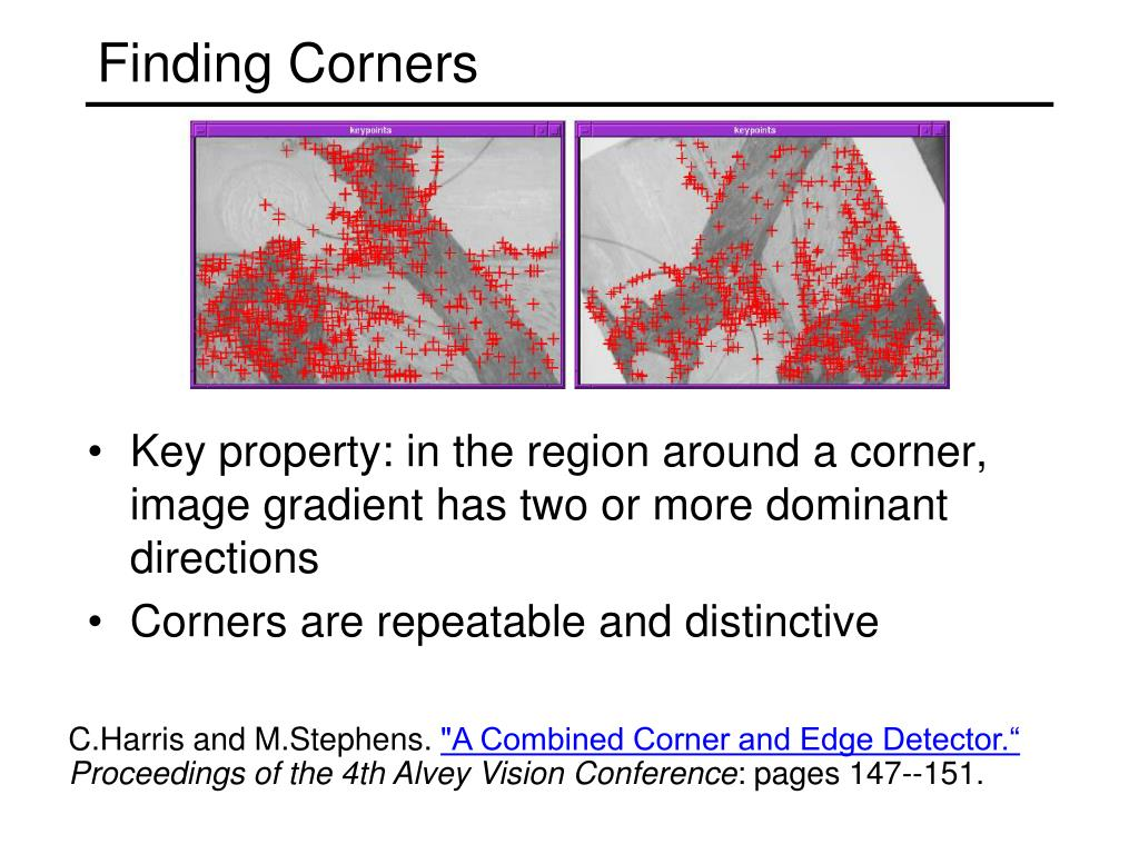 Finding Corners