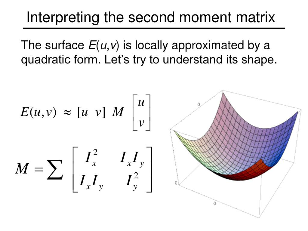 Interpreting the second moment matrix