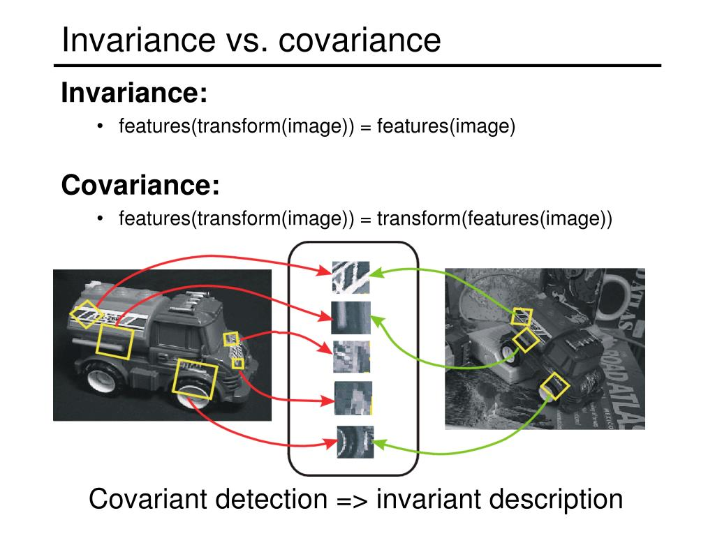 Invariance vs. covariance