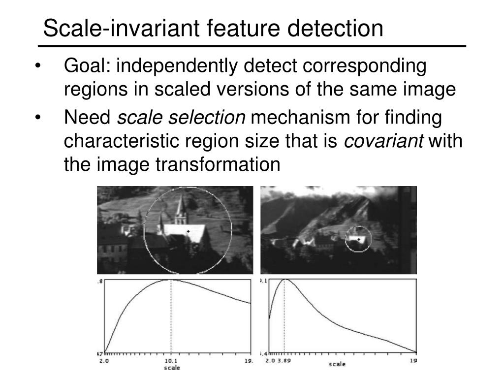 Scale-invariant feature detection