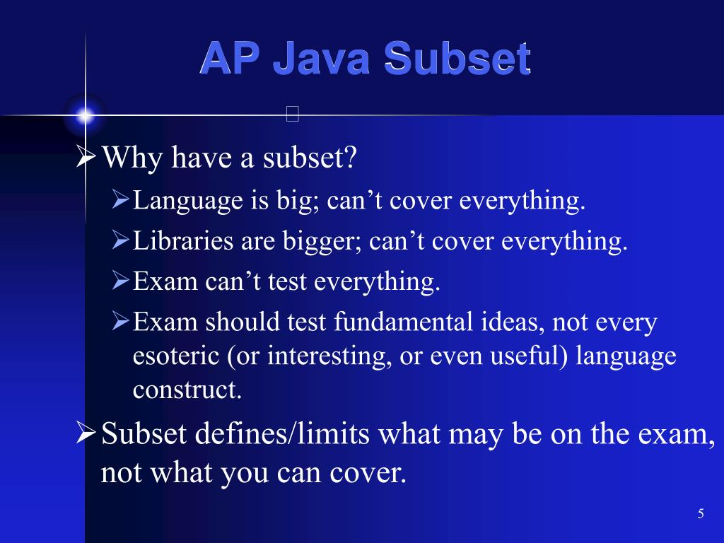 AP Java Subset