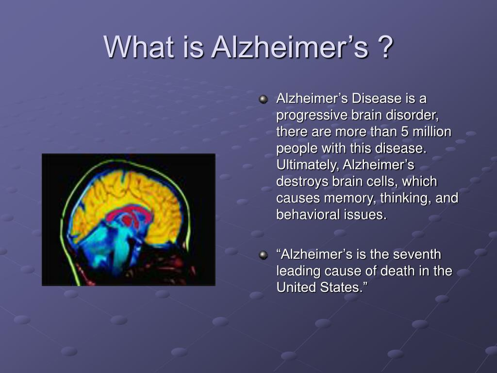an overview of the alzheimers disease a progressive disease of the brain