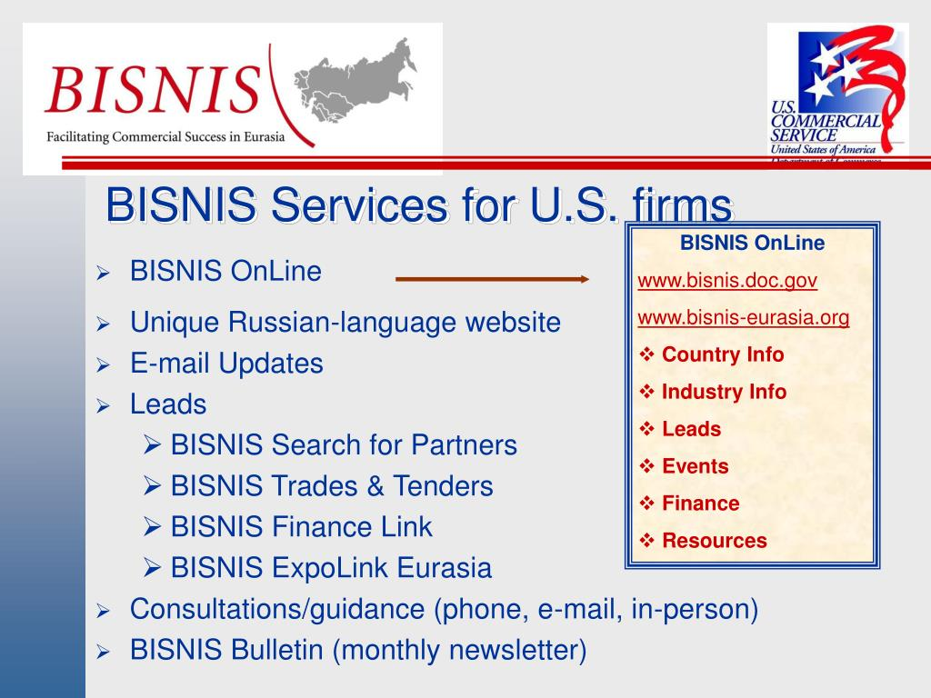 BISNIS Services for U.S. firms