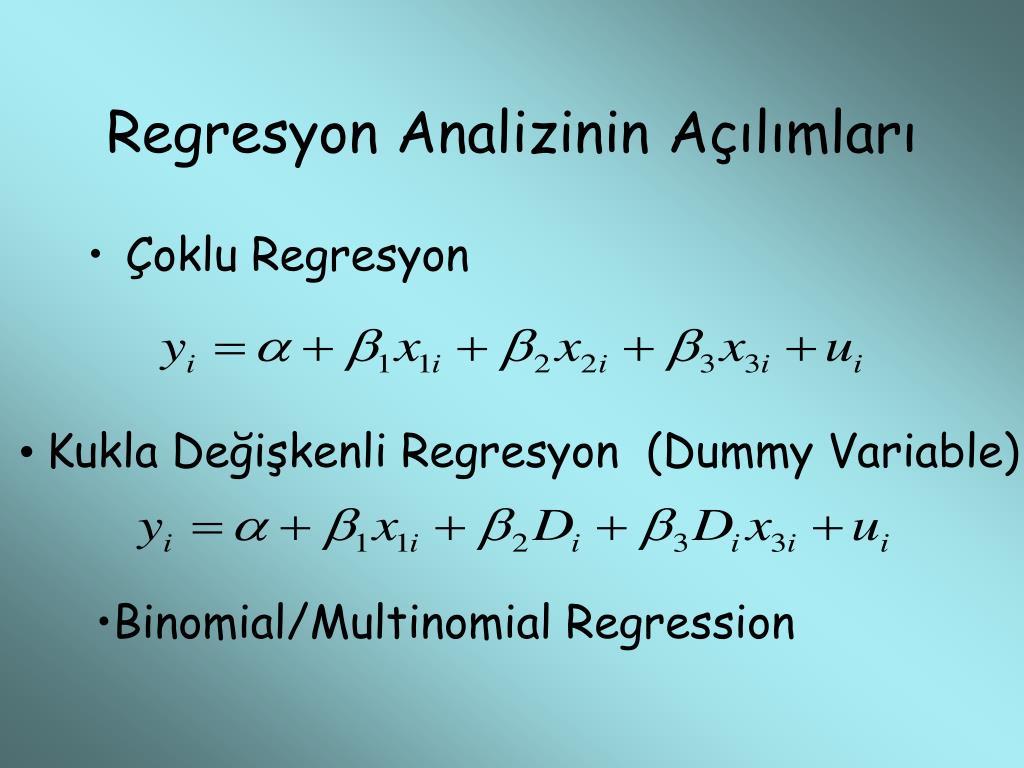 Regresyon Analizinin Açılımları
