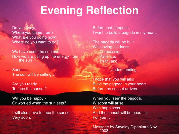 Evening Reflection