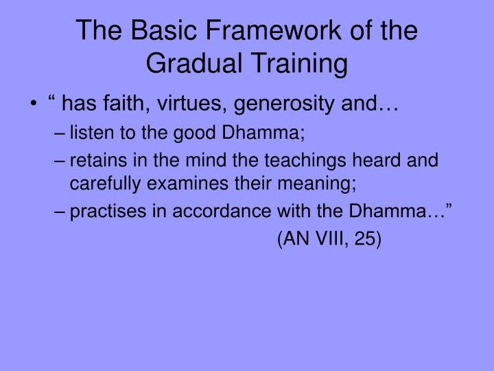 The Basic Framework of the Gradual Training