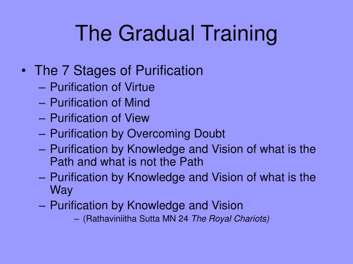 The Gradual Training