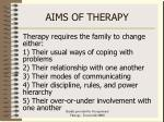 aims of therapy