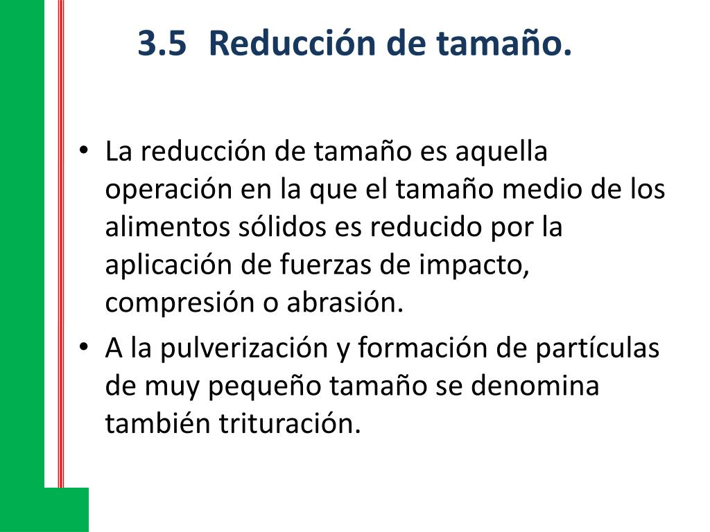 3.5Reducción de tamaño.