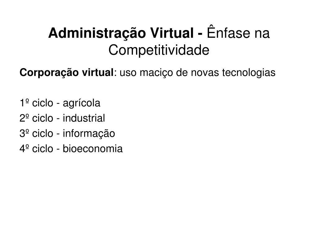 Administração Virtual -