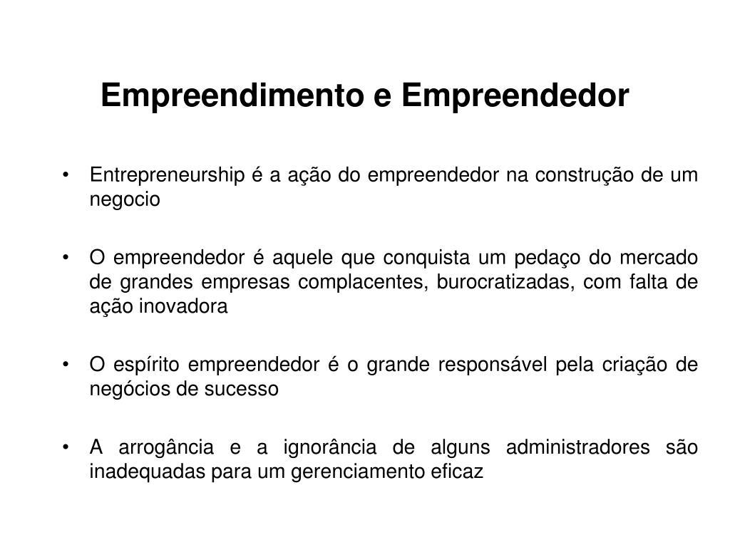Empreendimento e Empreendedor